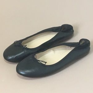 J. Crew Black Ballet Flat Size 9.5 M